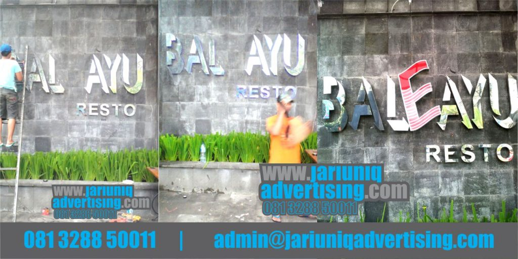 Jasa Advertising Jogja Huruf Timbul Stainless Bale Ayu Di Yogya