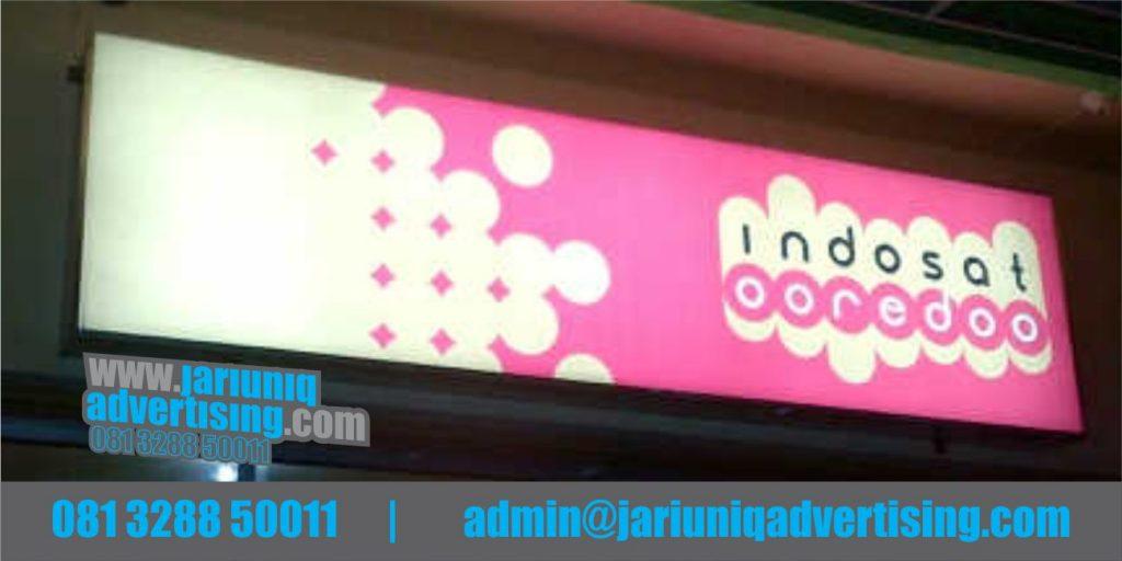 Jasa Advertising Jogjakarta Neon Box Indosat Di Yogyakarta